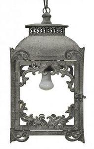 Demeure et Jardin - lanterne fer forgé gris taupe - Lanterne D'extérieur