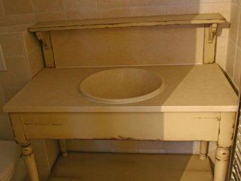 PROVENCE ET FILS - ensemble salle de bains drapiere simple vasque 110 - Meuble Vasque
