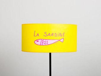POULETTES BAZAR - sardine jaune - Abat Jour