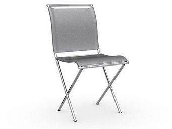 Calligaris - chaise pliante design air folding grise et acier c - Chaise Pliante