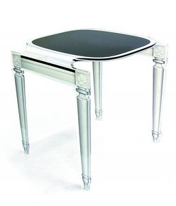 ACRILA - sixteen petite table repas acrila noire en plexi - Table De Repas Carrée