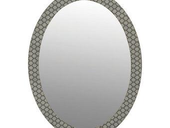 Interior's - miroir ovale clair obscur - Miroir À Poser