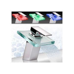 WHITE LABEL - robinet de salle de bain led mitigeur - Robinet Lave Mains