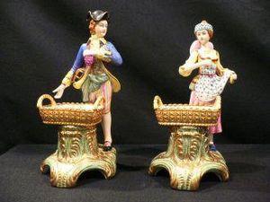 Demeure et Jardin - couple au panier - Figurine