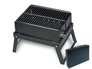 WHITE LABEL - barbecue pliable en valise deco maison ustensile c - Barbecue Portable