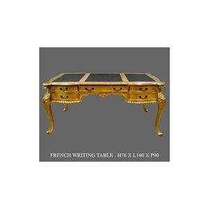 DECO PRIVE - bureau baroque en bois doré modèle chippendale - Bureau