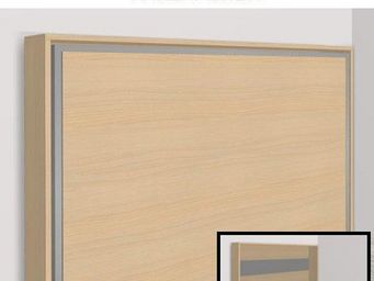 WHITE LABEL - armoire lit escamotable athena, hêtre. matelas tre - Armoire Lit