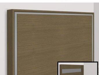 WHITE LABEL - armoire lit escamotable athena, chêne taupe. matel - Armoire Lit