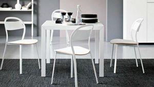 Calligaris - table repas extensible key de calligaris 90x89 en  - Table De Repas Carrée