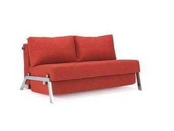 INNOVATION - canapé lit design sofabed cubed rouge orange conve - Banquette Bz