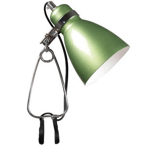 WHITE LABEL - lampe � crampon hernandez coloris vert - Spot � Pince