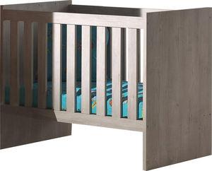 WHITE LABEL - lit bébé évolutif bois coloris chêne norvégien - Lit Bébé