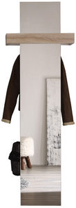 COMFORIUM - meuble vestaire avec miroir coloris blanc et chêne - Vestiaire