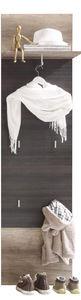 COMFORIUM - porte manteau mural coloris chêne clair et foncé - Vestiaire
