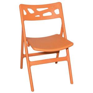 COMFORIUM - lot de 6 chaises de terrasse pliables de coloris o - Chaise De Jardin Pliante