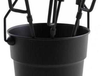 Aubry-Gaspard - seau 4 accessoires chemin�e fire - Seau � Cendres