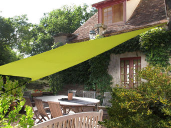 Ideanature - voile ombre rectangulaire 4 m�tres vert anis - Voile D'ombrage