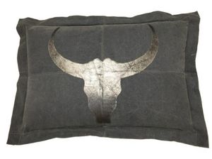 SHOW-ROOM - leather bulls head - Coussin Rectangulaire