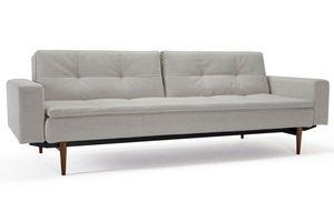 INNOVATION - canapé design dublexo avec accoudoirs blanc pieds  - Canapé Lit