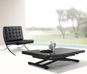 WHITE LABEL - table basse relevable extensible happening en verr - Table Basse Relevable