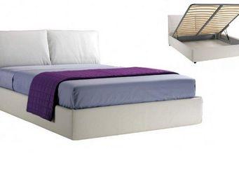 STYLEHOUSE  - lit coffre teseo haut de gamme avec tête de lit 14 - Lit Coffre
