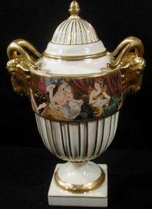 Demeure et Jardin - cassolette empire aux b�liers - Vase Couvert