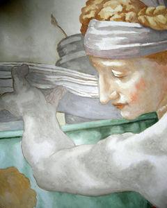 Atelier Follaco - fresque d'après michelangelo - Fresque
