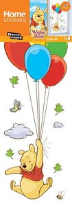 Nouvelles Images - sticker fenêtre winnie ballons - Sticker Décor Adhésif Enfant