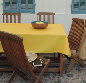 FLEUR DE SOLEIL - uni jaune - Nappe Enduite