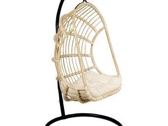 Aubry-Gaspard - balancelle sur pied en rotin non écorcé - Balancelle