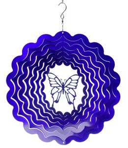 SPIN-ART SPINNERS - mobile à vent papillon violet 15cm - Mobile