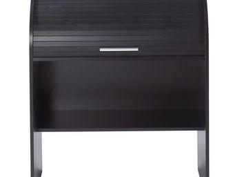 TOUSMESMEUBLES - bureau cylindre � rideau noir - curtys n�8 - l 85 - Secr�taire