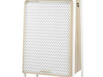 WHITE LABEL - armoire informatique à rideau - arkos n°1 - l 77 x - Armoire De Bureau