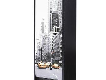 WHITE LABEL - classeur à rideaux noir - curtain n°2 - l 38 x l 3 - Armoire À Rideaux