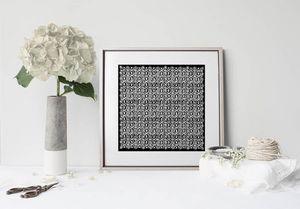 la Magie dans l'Image - print art anis noir blanc - Estampe