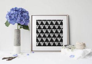 la Magie dans l'Image - print art géometrie végétale - Estampe