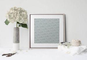 la Magie dans l'Image - print art trèfle vert-de-gris blanc - Poster