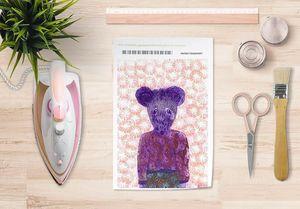 la Magie dans l'Image - papier transfert ma petite souris fond rose - Transfert