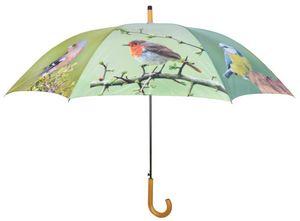 Esschert Design - parapluie oiseaux métal et bois - Parapluie