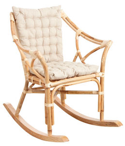 Aubry-Gaspard - rocking-chair en rotin naturel - Rocking Chair