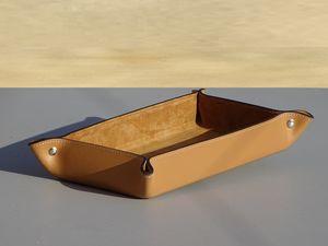 MIDIPY - vide poche rectangle en cuir. fait main - Vide Poche