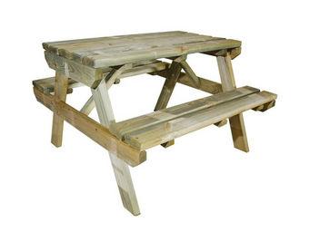 CEMONJARDIN - table de pique-nique en bois chinchilla pour enfan - Table Pique Nique