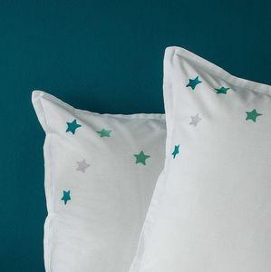 BLANC CERISE - etoiles - Taie D'oreiller D'enfant