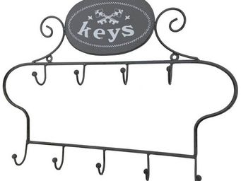 CHEMIN DE CAMPAGNE - porte-clef clé clés clefs mural en fer 40 cm - Armoire À Clefs