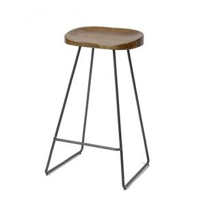 Mathi Design - tabouret de bar wood - Tabouret De Bar