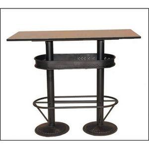Mathi Design - table haute industrielle 120 - Mange Debout