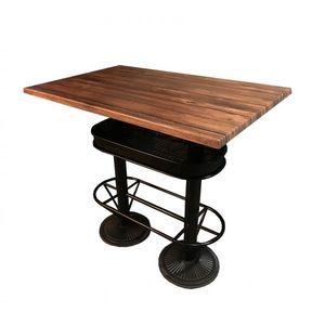 Mathi Design - table haute industrielle oakland - Mange Debout
