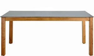 JARDIPOLYS - table salon de jardin en bois neliö - Table De Jardin