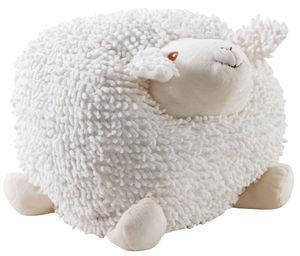 Aubry-Gaspard - mouton à suspendre en coton blanc shaggy grand mod - Peluche