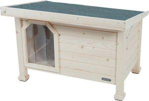 jardindeco - niche en bois à toit plat - Niche